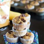 Banana Peanut Butter Chocolate Chip Muffins #JifPeanutPowder #WalMart