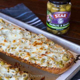 Garlic Olive Cheese Bread