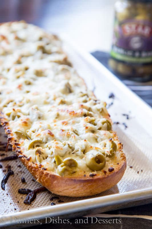 Garlic Olive Cheese Bread – take your garlic bread and turn it up a ...