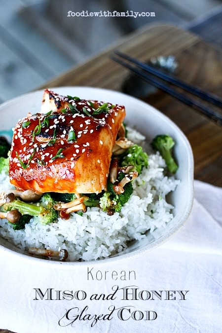 Korean Miso and Honey Glazed Salmon {Foodie with Family}