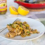 Lemon Chicken Skillet with Artichokes and Olives