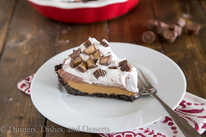 No Bake Peanut Butter Cup Pie {Dinners, Dishes, and Desserts}