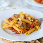 One Pot Pasta with Sausage and Tomatoes