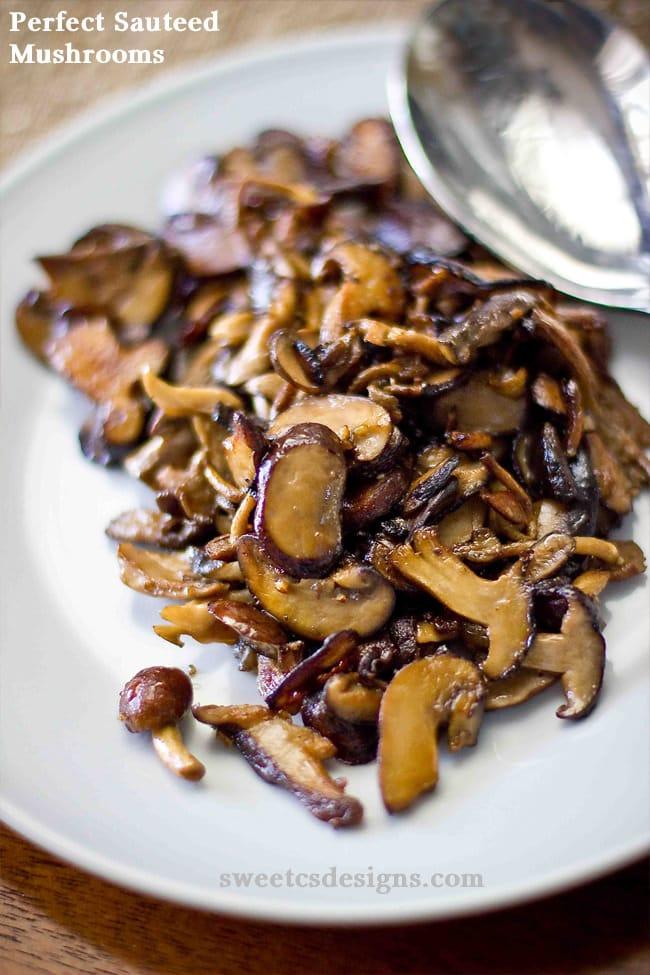 Perfect Sauteed Mushrooms {Sweet C's Designs}