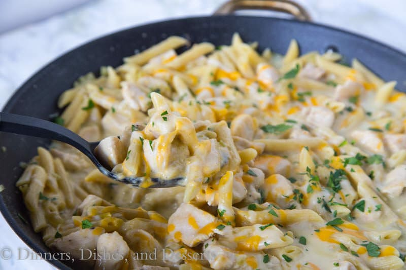 Salsa Verde Chicken Skillet {Dinners, Dishes, and Desserts}