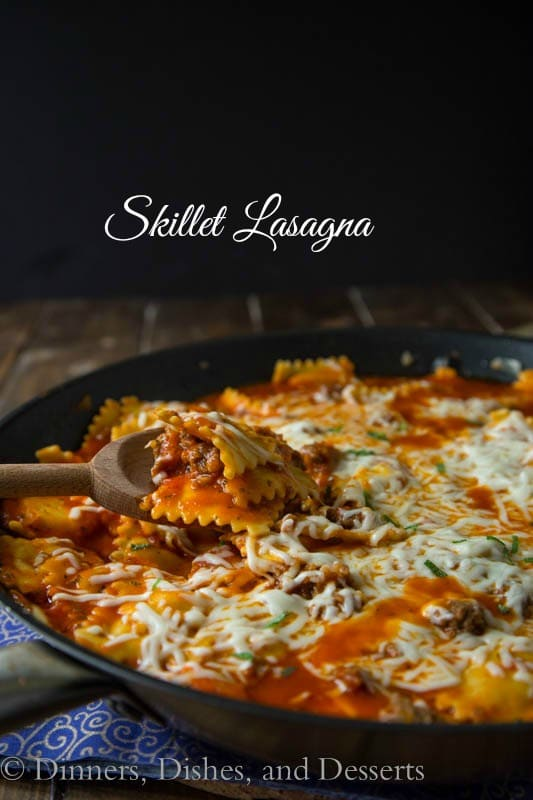 Skillet Lasagna {Dinners, Dishes, and Desserts}
