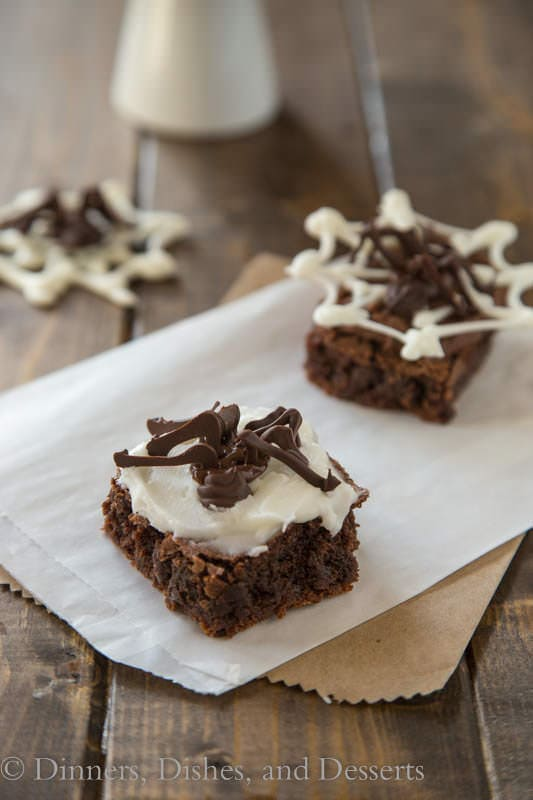 Spooky Spider Brownies on a white tray