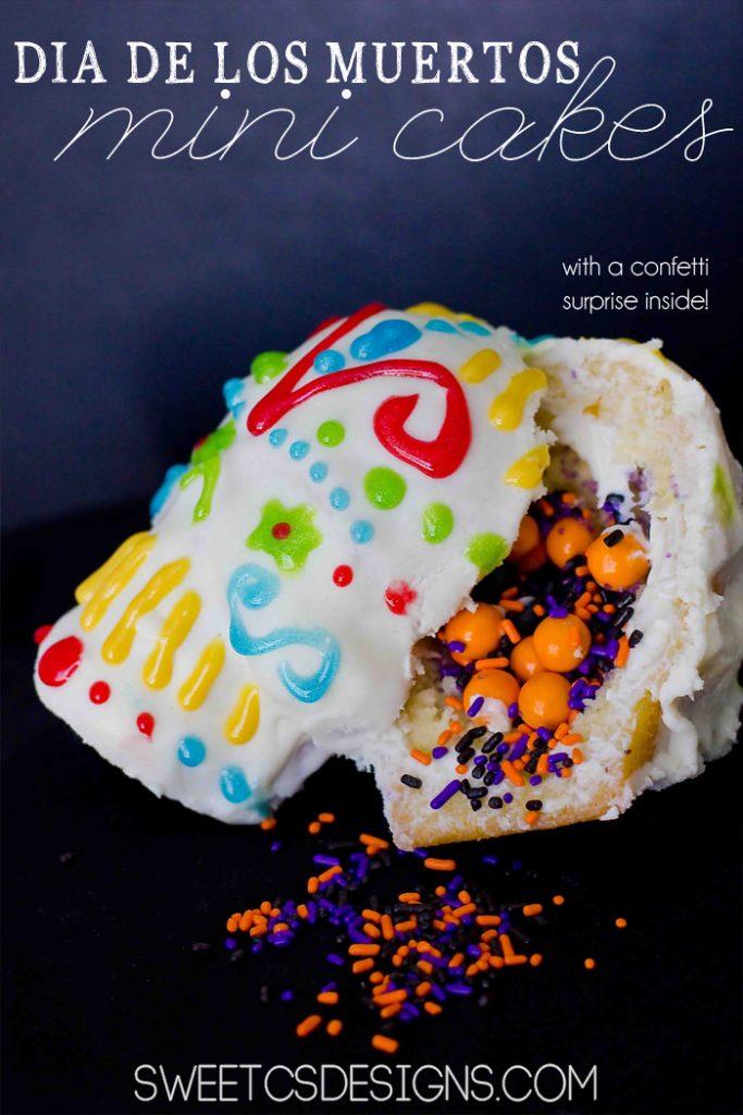 Skull Confetti Cakes