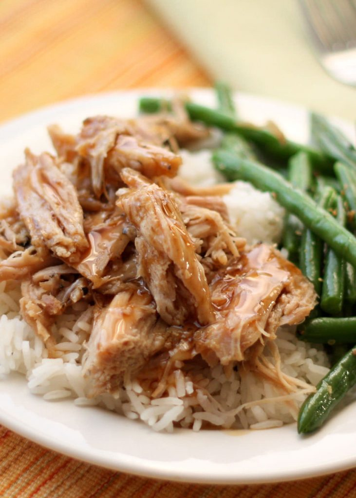 Slow Cooker Tany Pork Roast {Barefeet in the Kitchen}