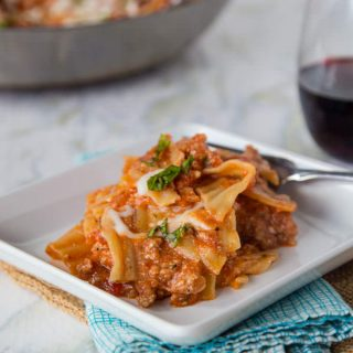 Easy Weeknight Lasagna #HealthyPastaMonth