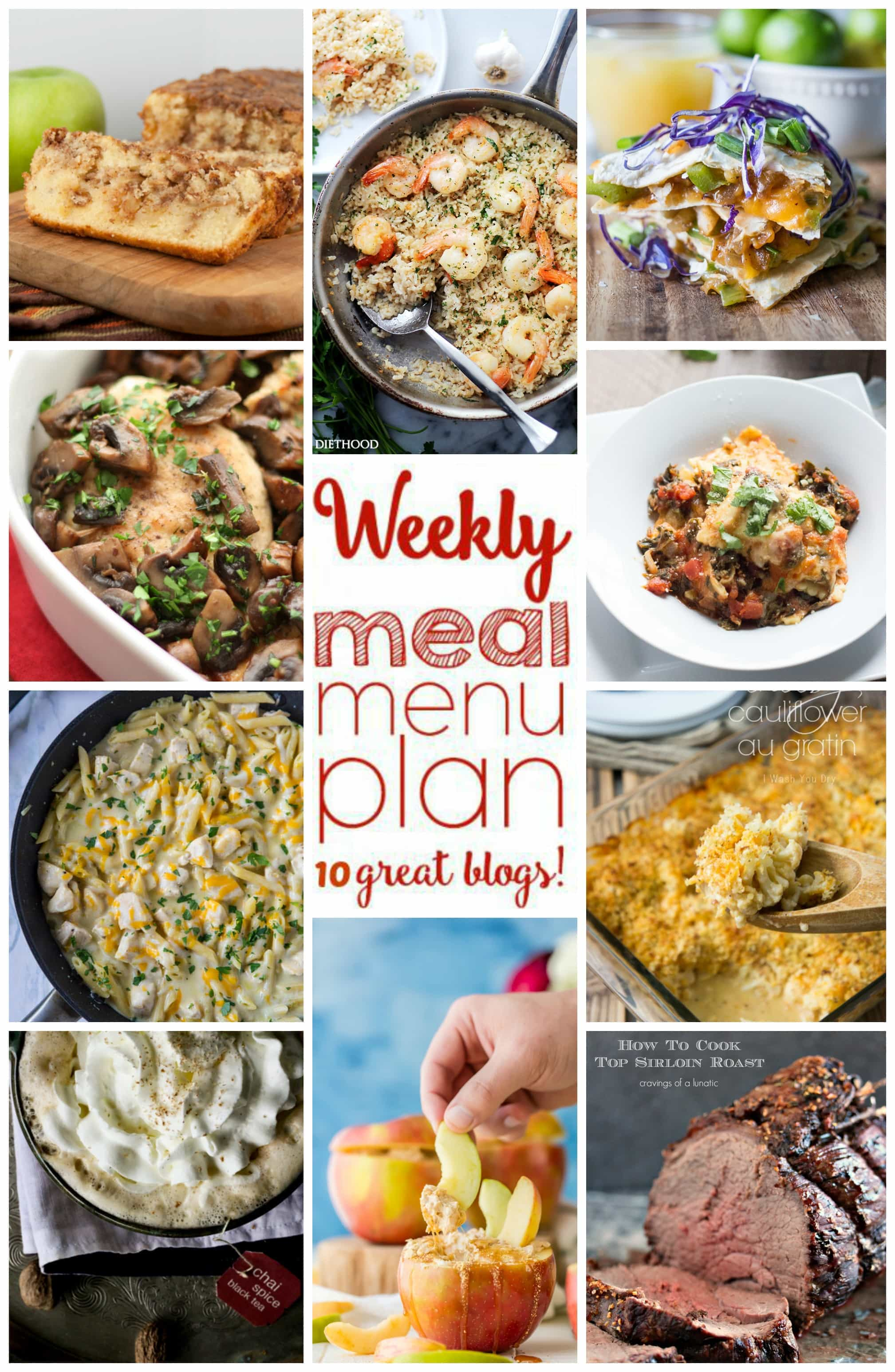 Weekly meal plan week 14 diethood weekly meal plan week 14 10 great bloggers bringing you a full week of recipes forumfinder Images