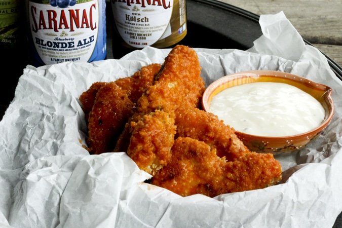 """Oven """"Fried"""" Homemade Chicken Nuggets and Boneless Buffalo Wings {Foodie with Family}"""