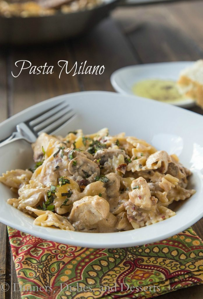 Pasta Milano (Copycat Macaroni Grill) {Dinners, Dishes, and Desserts}