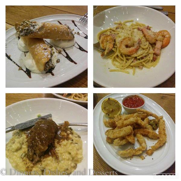 Universal Studios Orlando - dinner at Vivo Italian Kitchen at City Walk