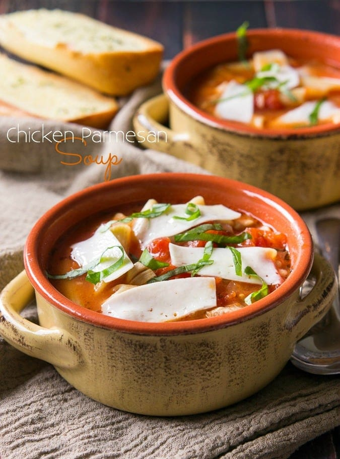 Chicken Parmesan Soup {I Wash...You Dry}