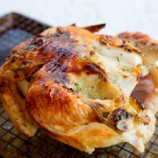 easy roast chicken in a pan