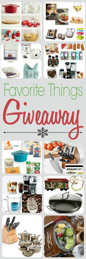 Favorite Things Giveaway - 10 bloggers bringing you 11 prizes, worth over $3000!! Visit all the blogs and enter to win!