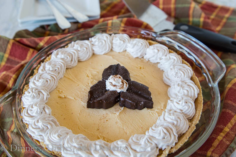 pumpkin ice cream pie in a pan
