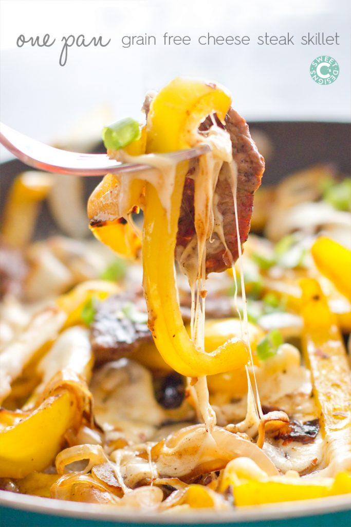 One Pan Cheese Steak Skillet {Sweet C's Designs}