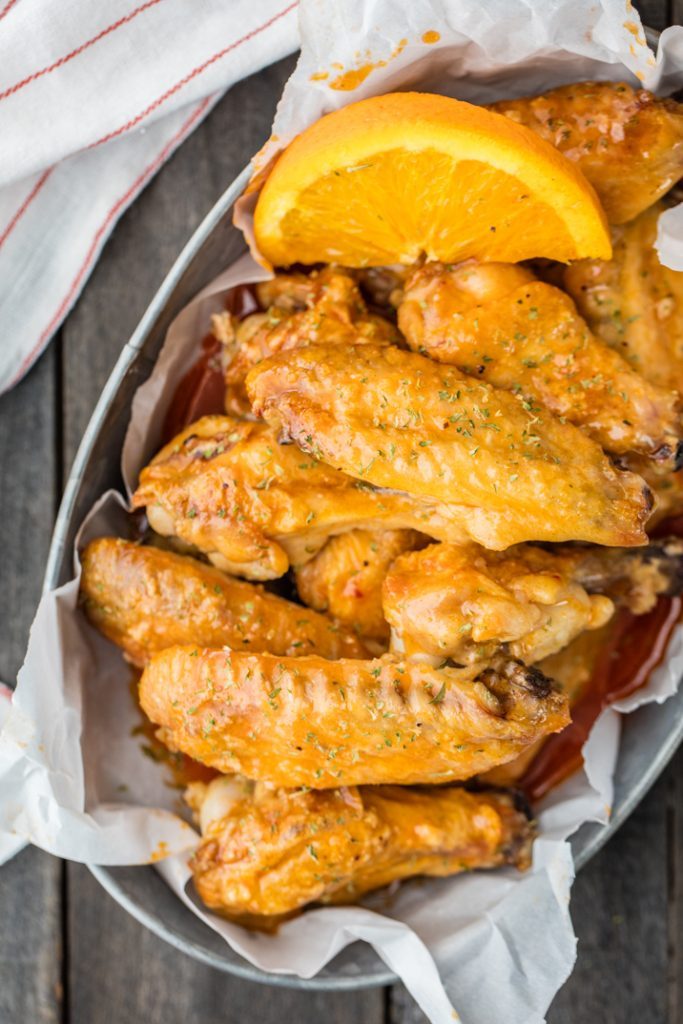 Orange Soda Hot Wings {The Cookie Rookie}