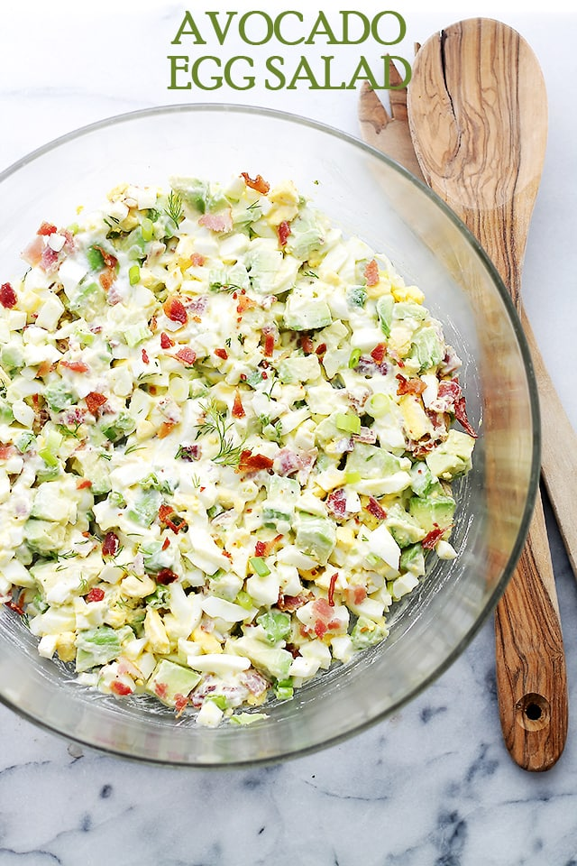 Avocado Egg Salad {Diethood}