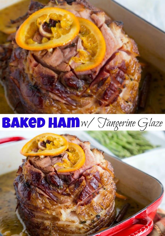 ham in a roasting pan