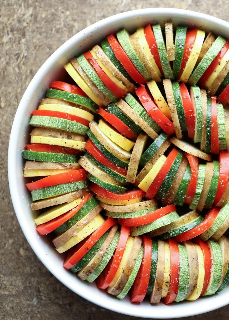 Vegetable Tian {Barefeet in the Kitchen}