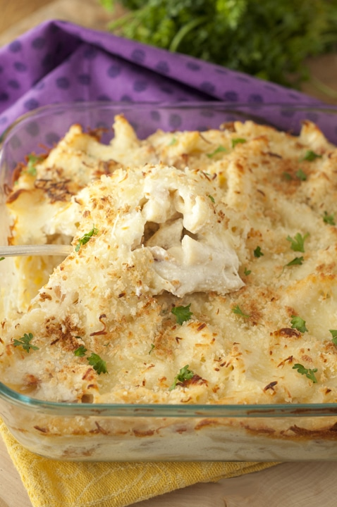 Bacon Alfredo Pasta Bake {Wishes and Dishes}