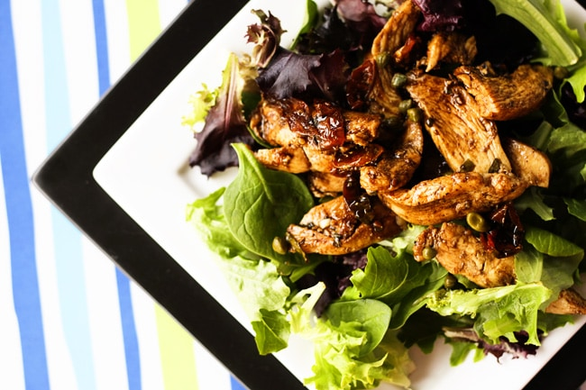 Balsamic Chicken Dinner Salad {Foodie with Family}