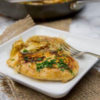 Chicken in Artichoke Pan Sauce