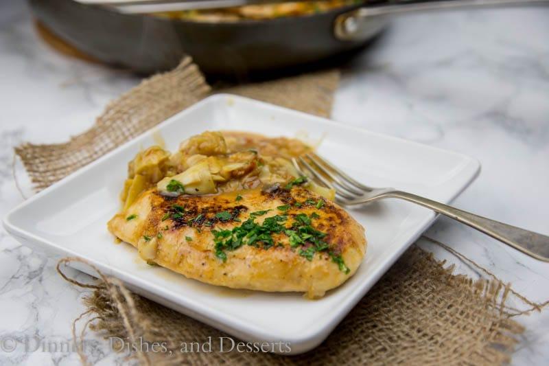 chicken in artichoke sauce