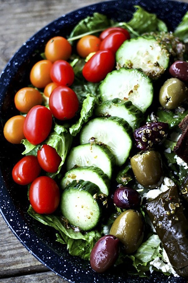Greek Salad Gyro Plate {Foodie with Family}