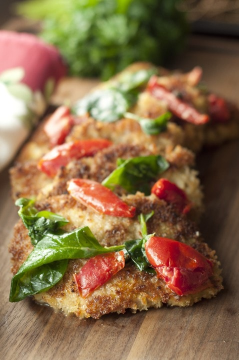 Italian Pork Cutlet Florentine {Wishes and Dishes}