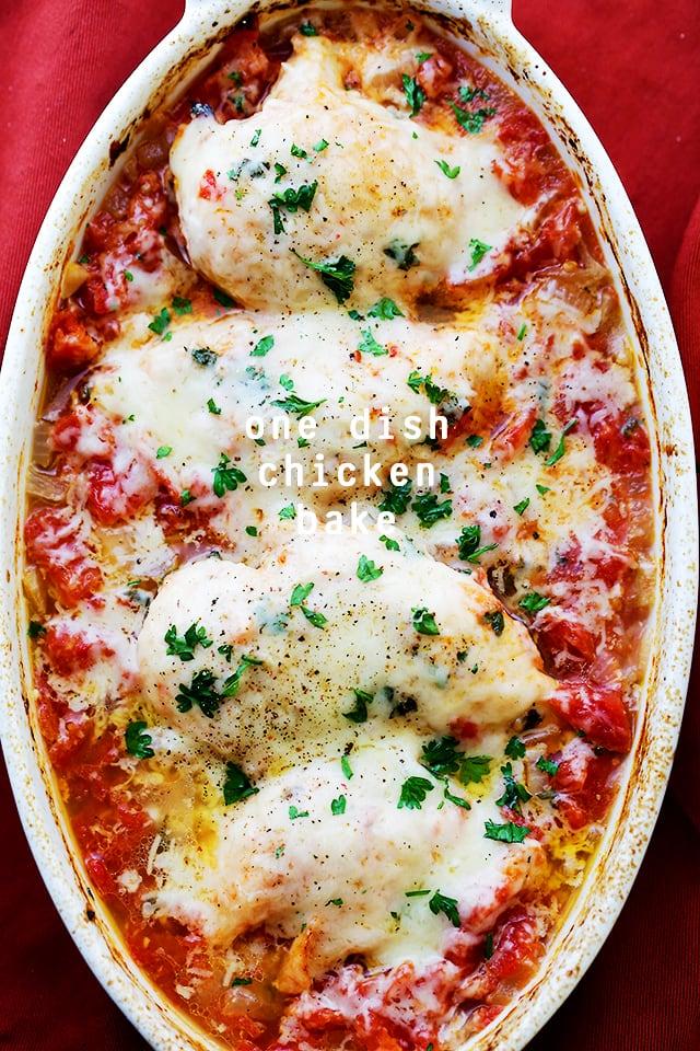 One Dish Chicken Bake {Diethood}