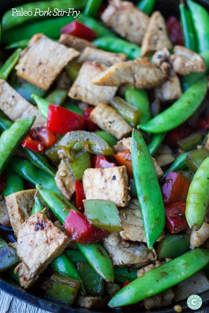 Paleo Pork Stir Fry {Sweet C's Designs}