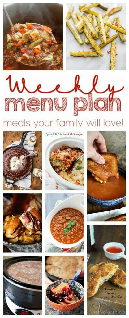 A bunch of different types of food, with Comfort food