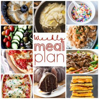 Weekly Meal Plan Week 26
