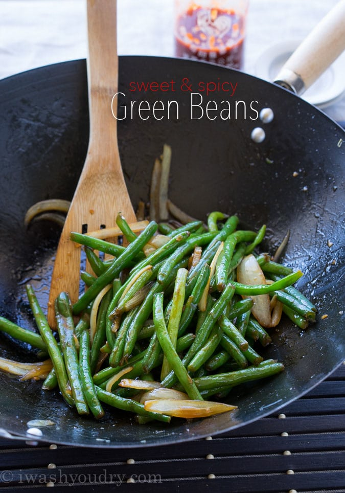 Sweet and Spicy Green Beans {I Wash...You Dry}