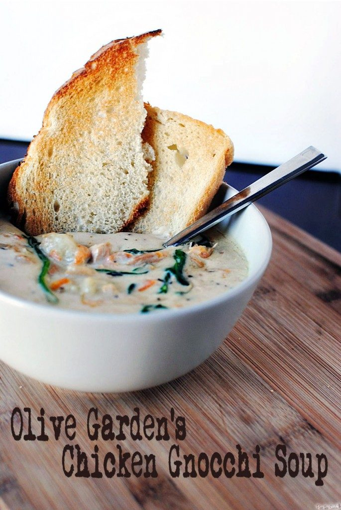 Slow Cooker Olive Garden Chicken Gnocchi Soup {Pass the Sushi}