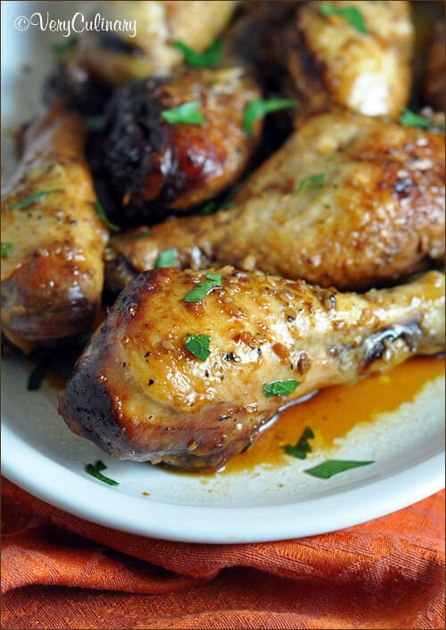Slow Cooker Honey-Soy Chicken Drumsticks {Belly Full}