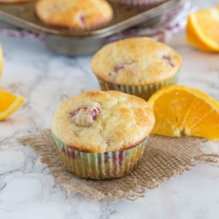 tangerine raspberry muffins