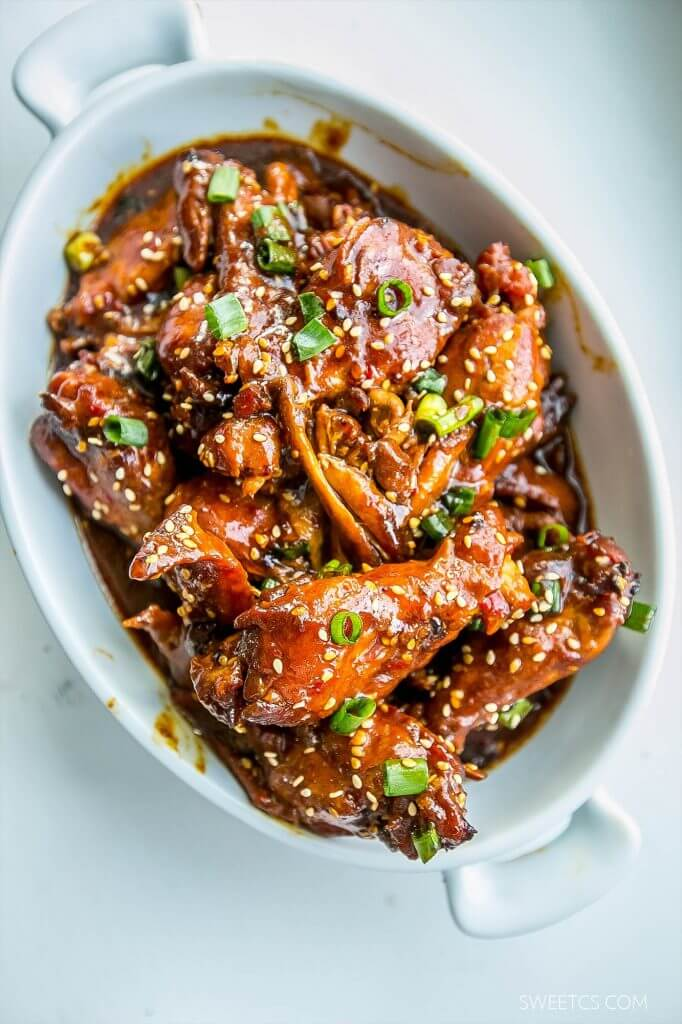 Slow Cooker Honey Soy Wings {Sweet C's Designs}