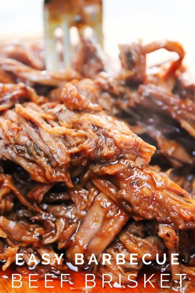 Easy Barbecue Beef Brisket {A Dash of Sanity}