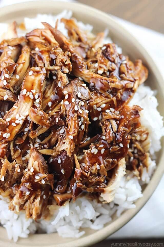 Crock Pot Teriyaki Chicken {Yummy Healthy Easy}
