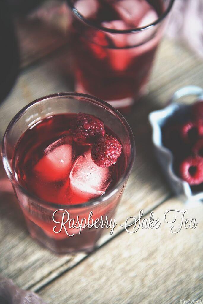 Raspberry Sake Tea Cocktail {Pass the Sushi}