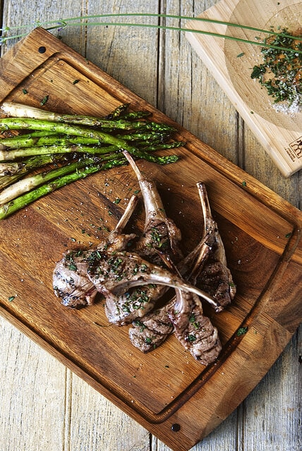 Grilled Lamb Chops with Lavender Salt {Girl Carnivore}