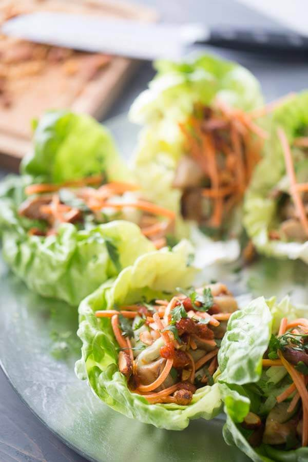Easy Chicken Lettuce Wraps {Lemons for Lulu}