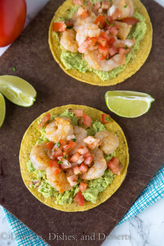 Shrimp & Avocado Tostadas - a fun and easy way to get Mexican food on ...