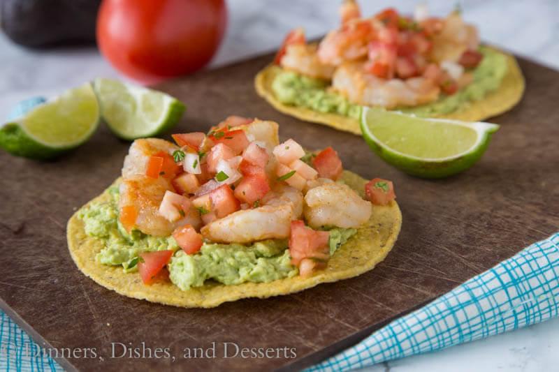 Shrimp & Avocado Tostadas - Dinners, Dishes, and Desserts