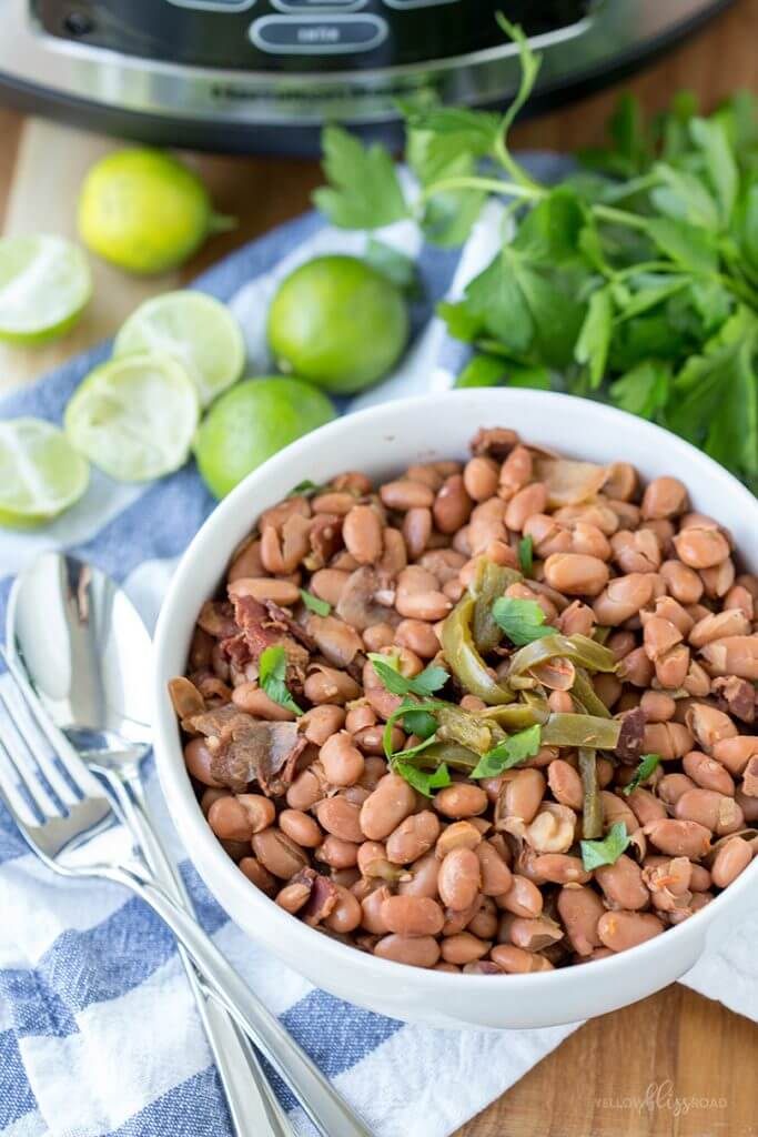 Slow Cooker Mexican Beans {Yellow Bliss Road}